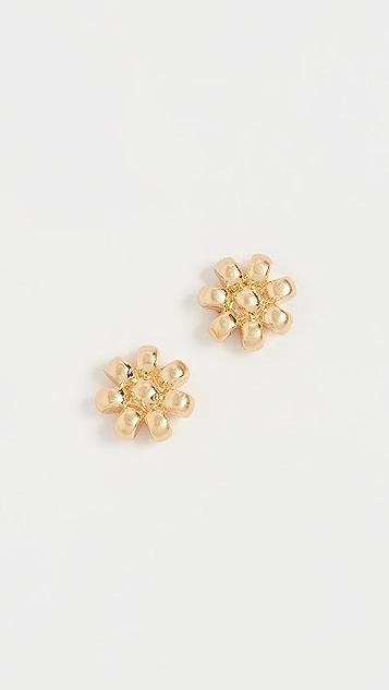 Madewell Brass See Bead Flower Studs