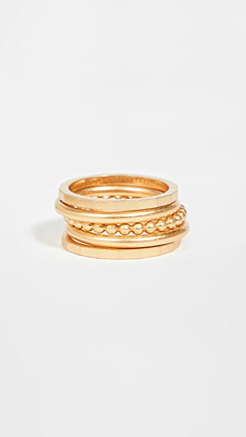 Madewell Stacking Ring Set