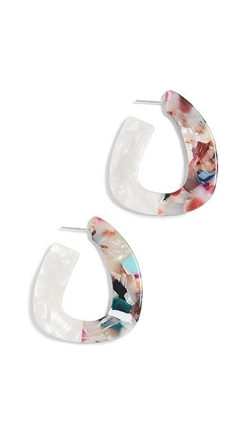 Madewell Acetate Tear Drop Earrings