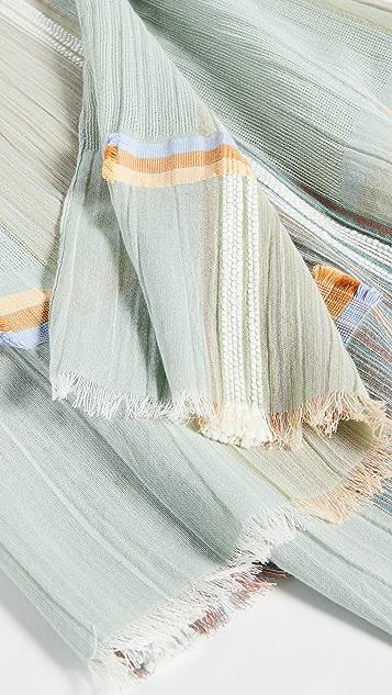 Madewell Текстурированный шарф в клетку с бахромой