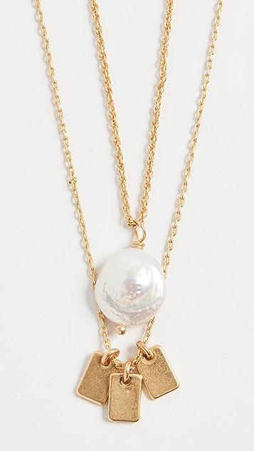Madewell 分层珍珠项链套装