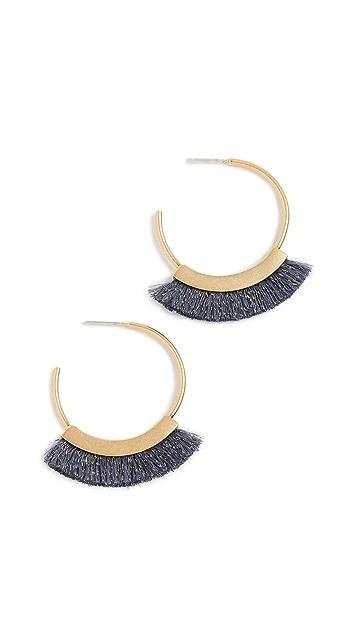 Madewell Серьги-кольца с бахромой