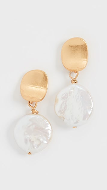 Madewell Delicate Pearl Drop Studs