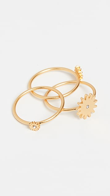 Madewell Sun Stacking Rings