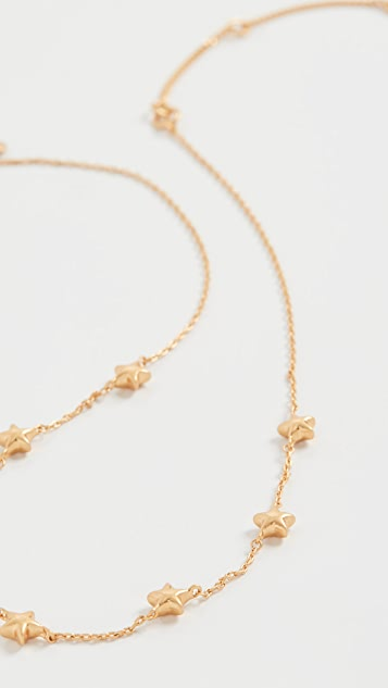 Madewell Delicate Puffy Star Necklace