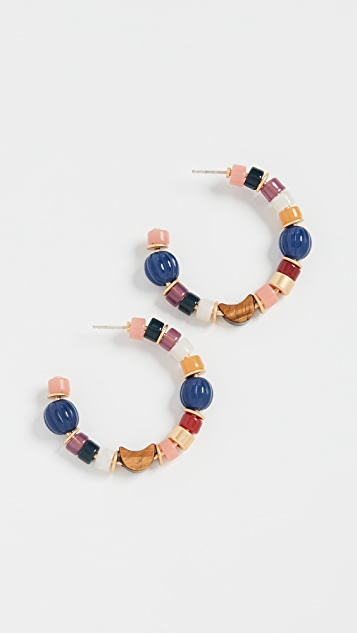 Madewell Разноцветные серьги-кольца с бисером