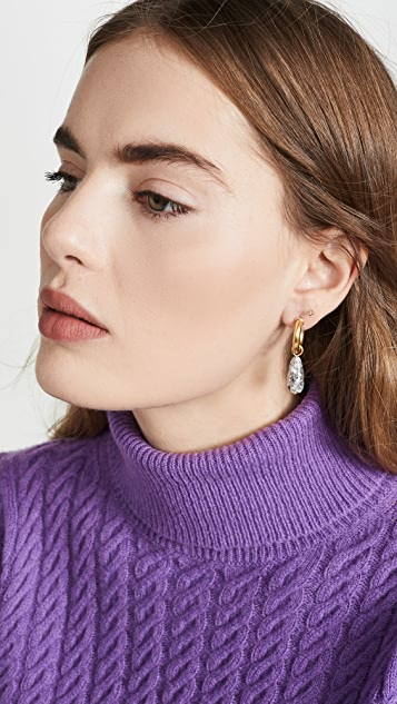 Madewell Resin Pebble Drop Hoops