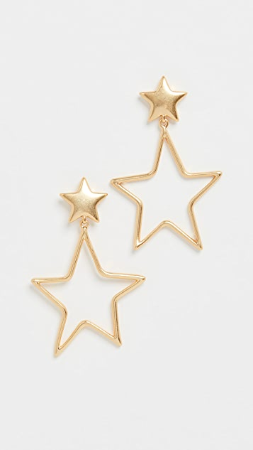 Madewell Wire Star Drop Earrings