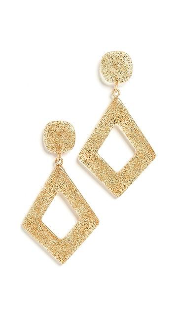 Madewell Diamond Shape Resin Glitter Earrings