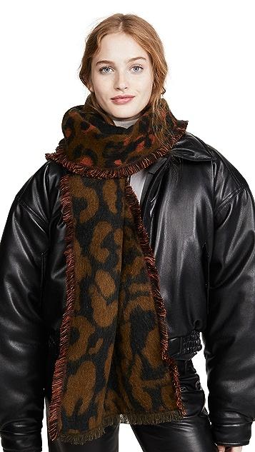 Madewell Fuzzy Leopard Scarf
