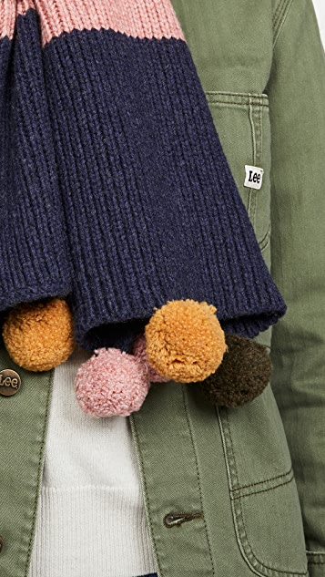 Madewell 滑雪兔绒球围巾