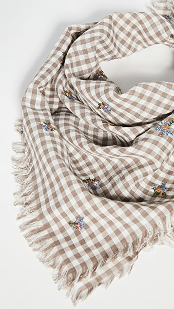 Madewell Washed Embroidered Bandana