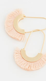 Madewell Arc Wire Fringe Earrings