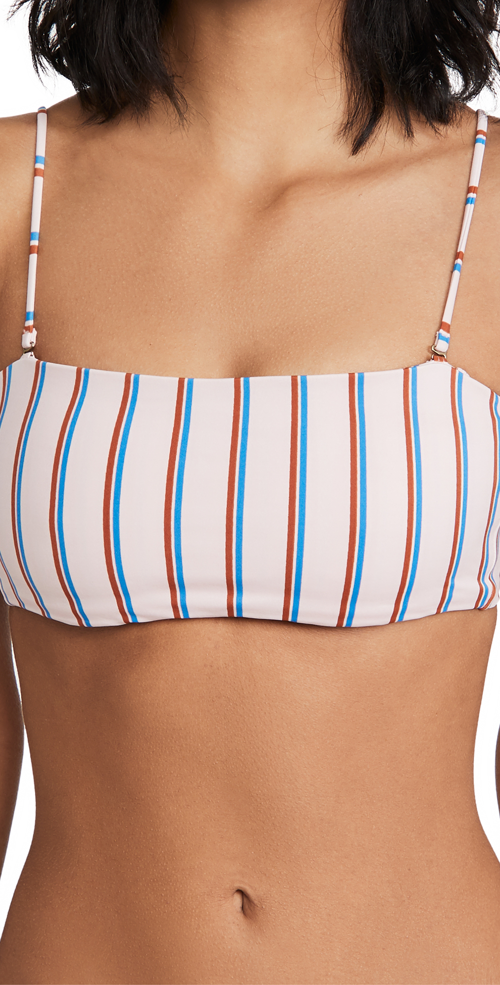 Madewell Second Wave Spaghetti Strap Bandeau Bikini Top