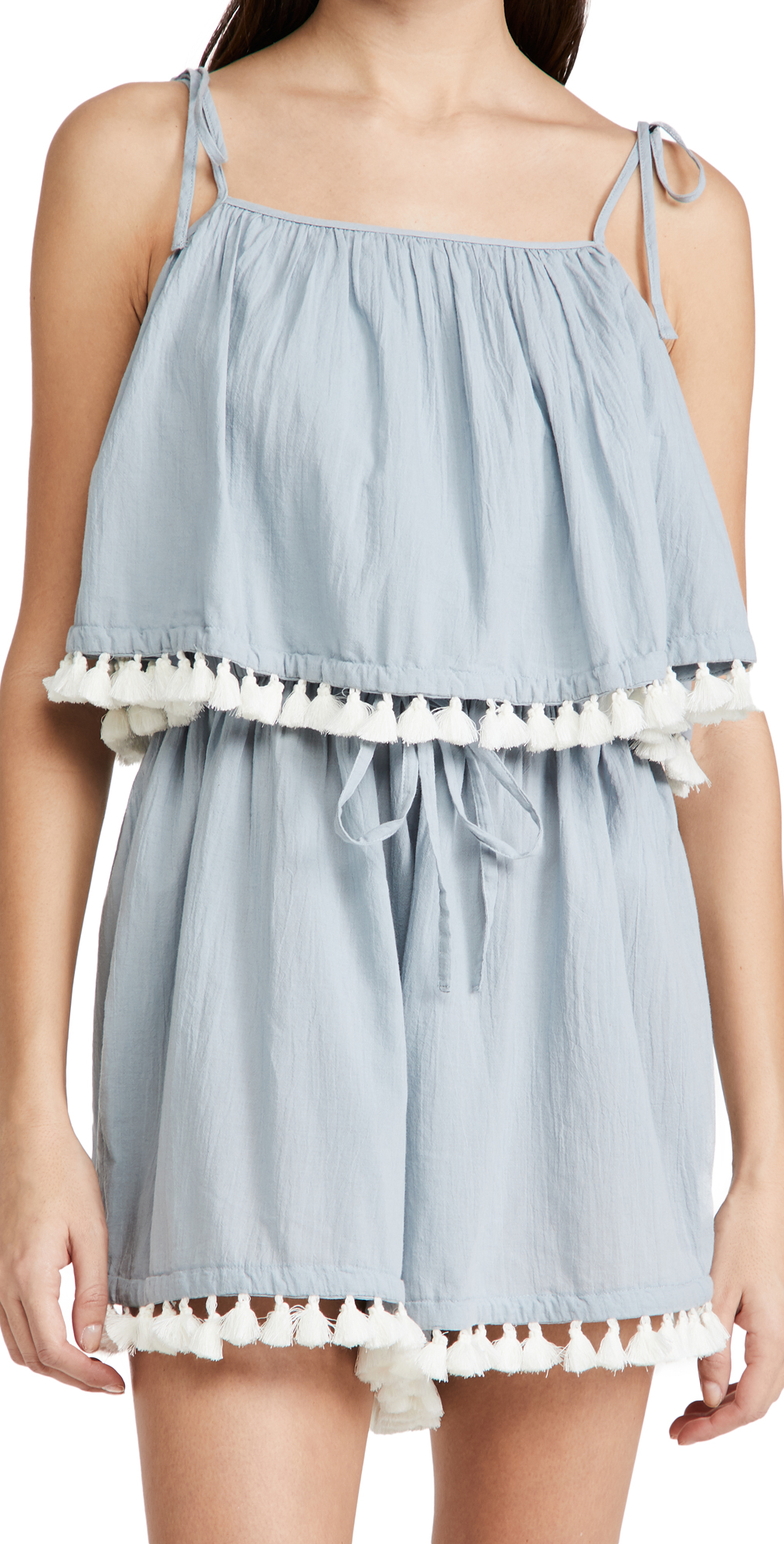 Madewell Tassel Cover Up Romper