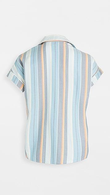 Madewell 索拉诺条纹睡眠时光睡衣: 撞色滚边版本