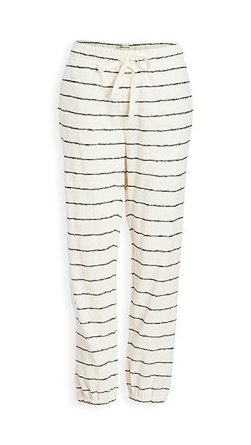 Madewell 条纹设计 Siesta 居家运动裤