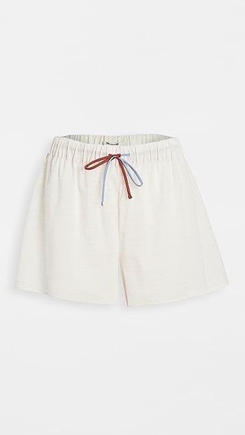 Madewell Colorblock Drawstring Pajama Shorts