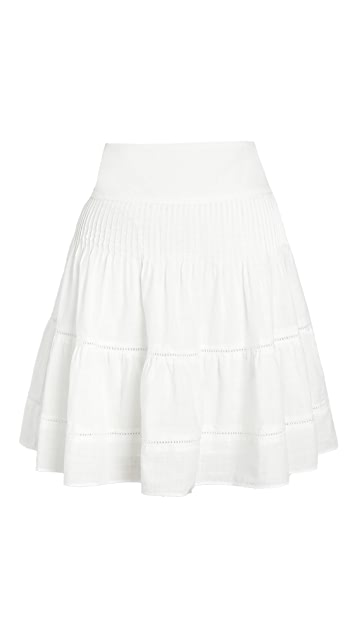 Madewell 抽褶背面迷你裙