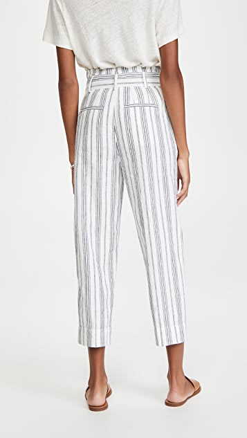 Madewell Paperbag Dark Baltic Stipe Pants