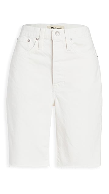 Madewell High Rise Long Denim Shorts