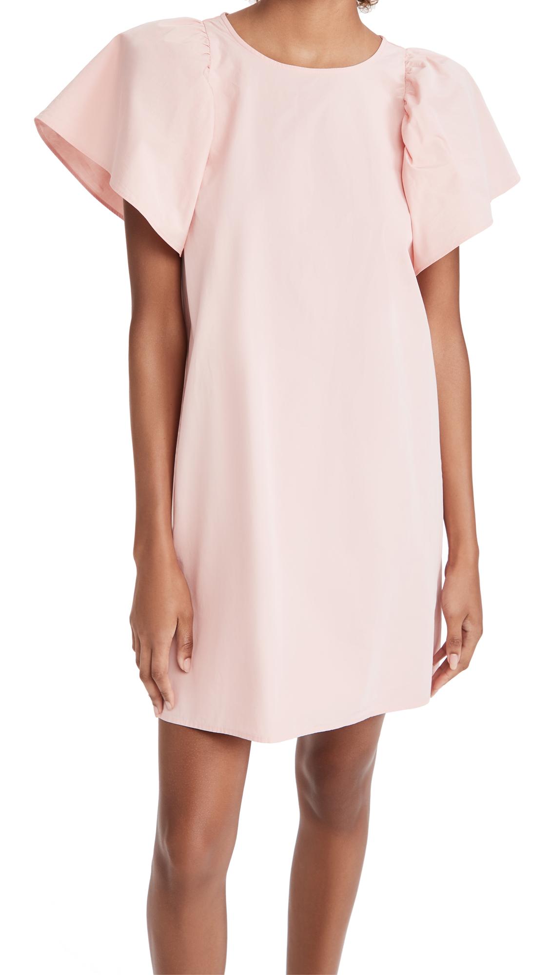 Madewell Fan Sleeve Poplin Mini Dress