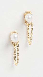 Madewell 淡水养殖珍珠链式耳钉