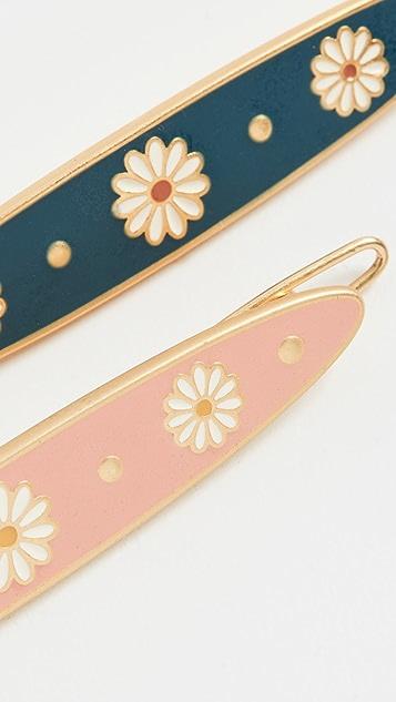 Madewell 珐琅花朵发夹套装