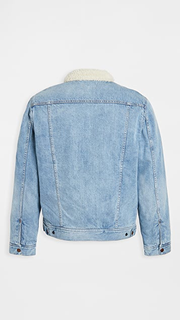 Madewell Sherpa Lined Denim Jacket