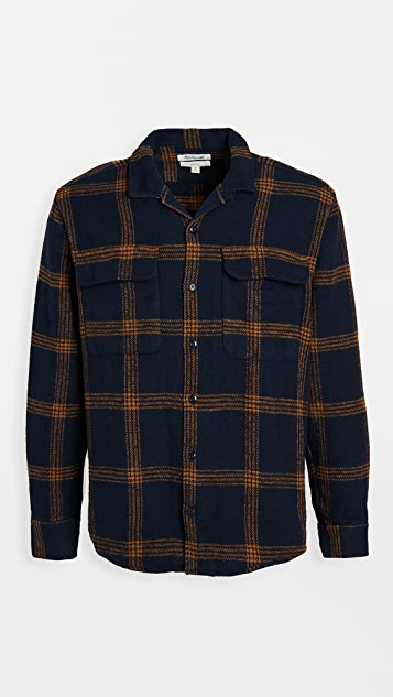 Madewell Camp Collar Plaid Overshirt