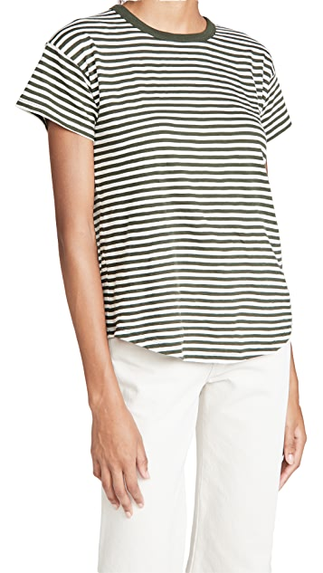 Madewell Whisper Cotton Rib Crew Neck Tee