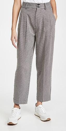 Madewell - Tapered Pleated Wide Leg Pants