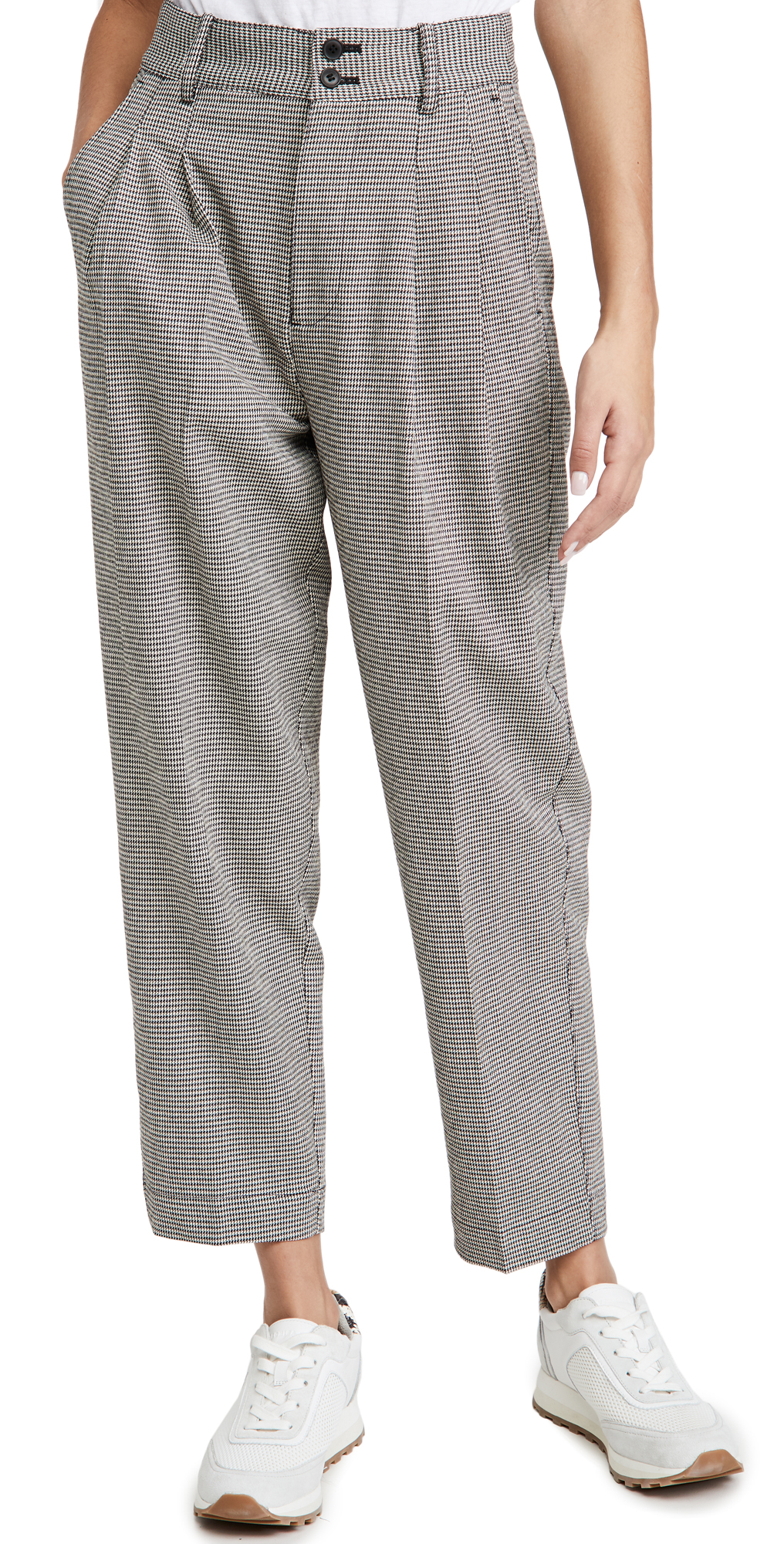 Madewell Tapered Pleated Wide Leg Pants