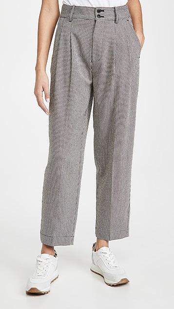 Madewell 锥形裥褶阔腿裤