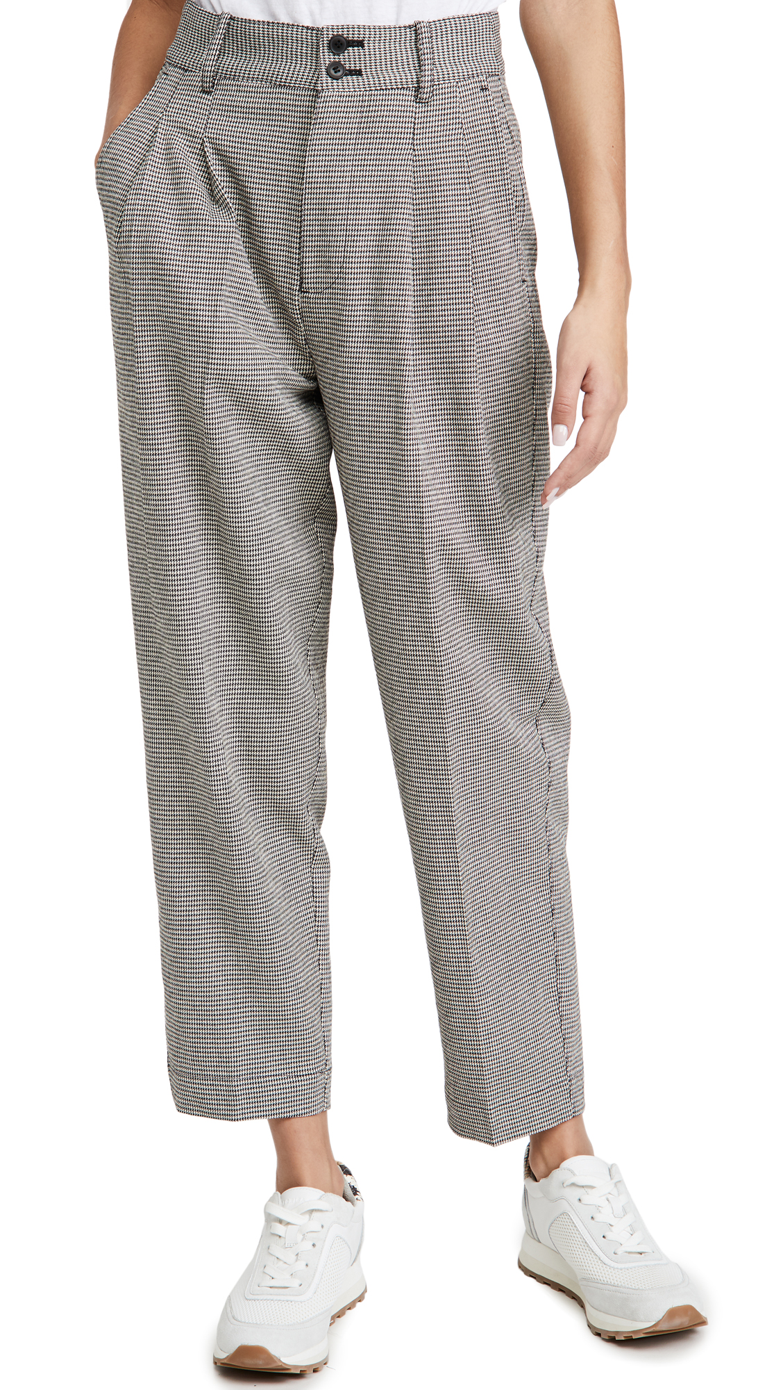 Madewell Tapered Pleated Wide Leg Pants