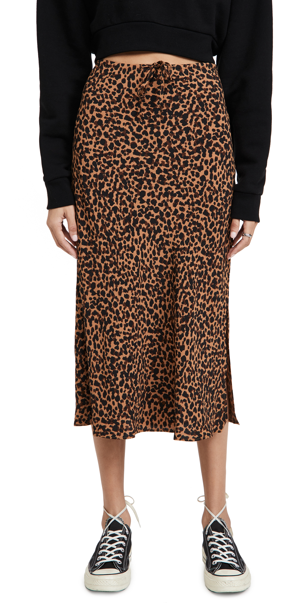 Madewell Pull On Midi Skirt