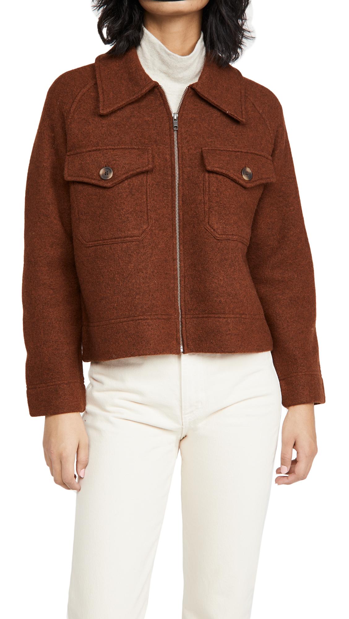 Madewell Jordan Zip Up Sweater