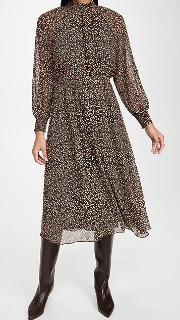 Madewell Smocked Neck Midi Dress