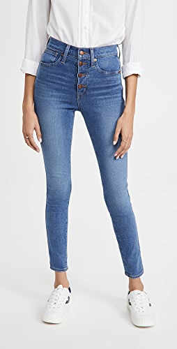 Madewell - 10'' High Rise Skinny Button Front Jeans