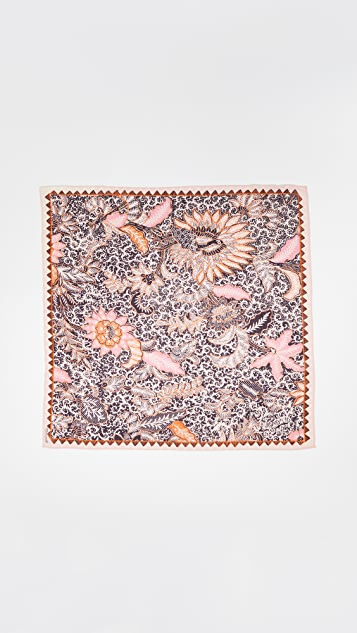 Madewell 水洗色花色丝质手帕