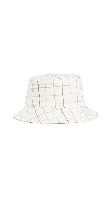 Madewell Linen-Cotton Reversible Short-Brimmed Bucket Hat