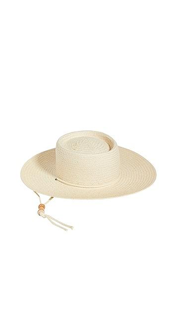 Madewell 木质珠饰 Stampede 草编帽