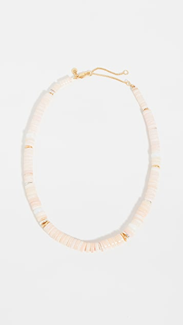Madewell Mother of Pearl Beaded Necklace