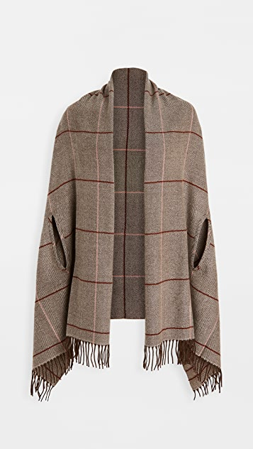 Madewell Menswear Plaid Cape Scarf