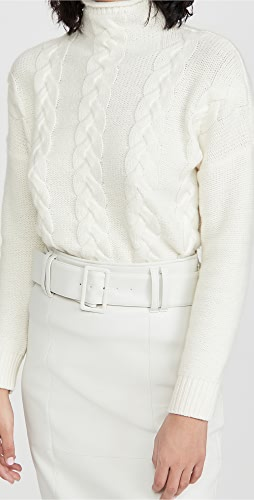 Madewell - Grenville Cable Knit Mock Neck Sweater