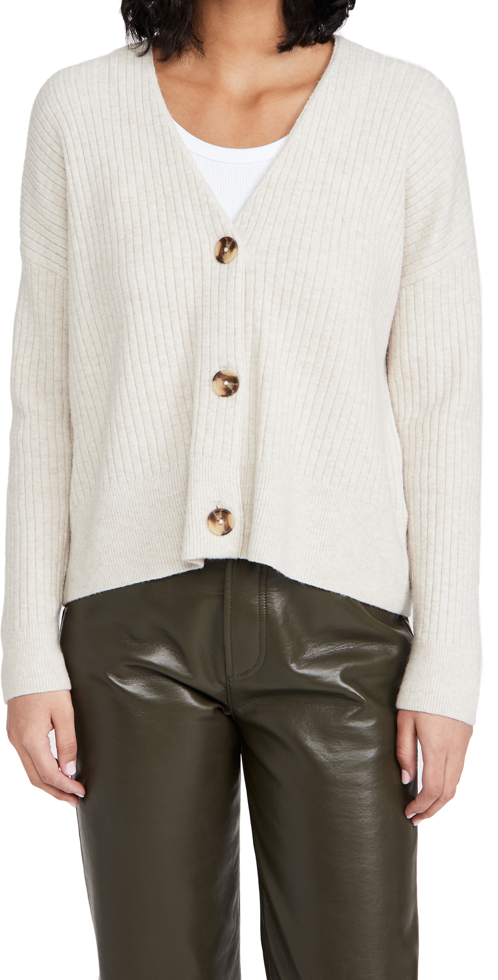 Madewell Secret Santa Cropped V Neck Cardigan