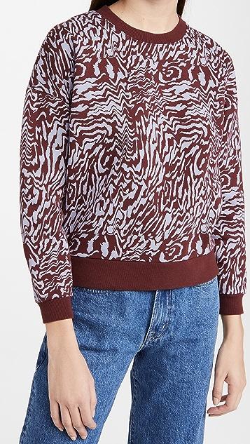 Madewell Zebra Print Pullover Sweatshirt