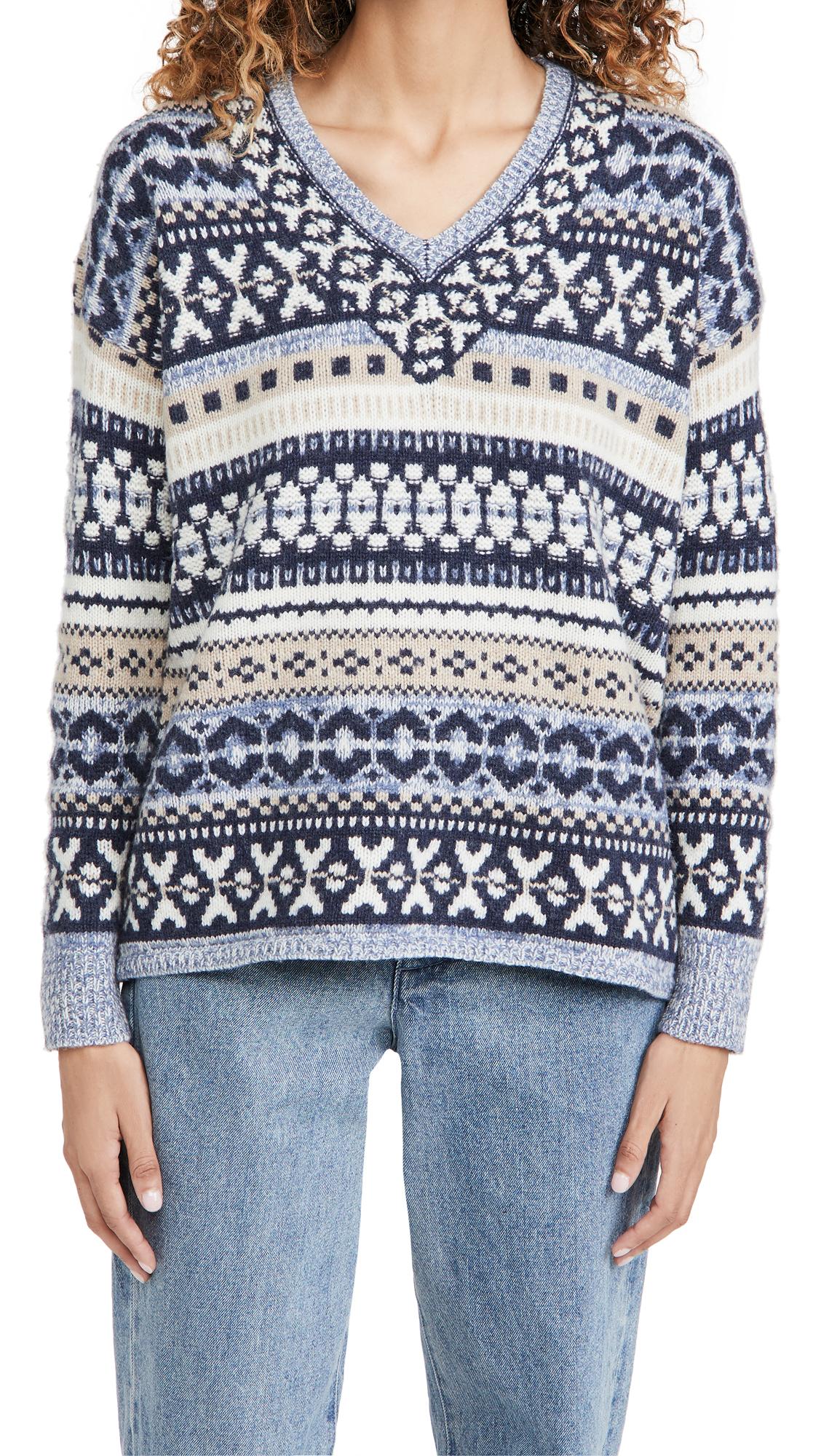 Madewell Fair Isle Dancer V Neck Pullover