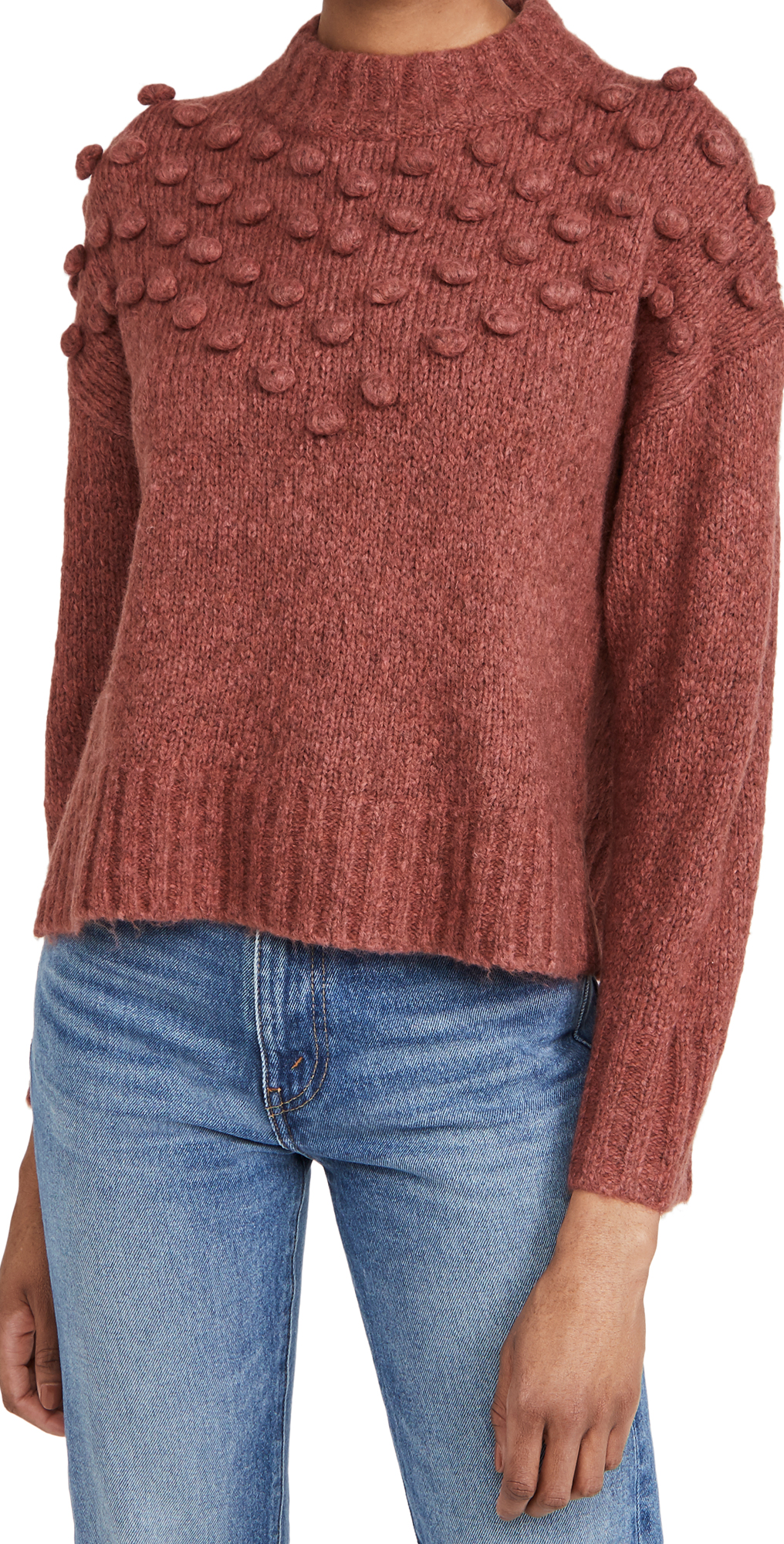 Madewell Bobble Chestnuts Roasting Crew Sweater