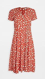 Madewell Button Wrap Midi Dress